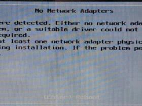 安装EXSI遇到No Network Adapters的解决方案