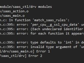 使用PERCPU变量时编译错误的问题