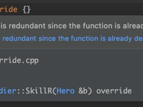 C++11中的override和final关键字