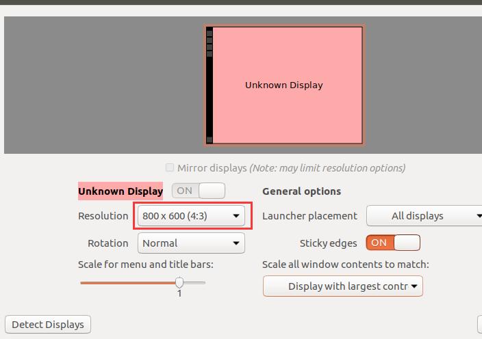 虚拟机装ubuntu界面显示不完全的解决方法