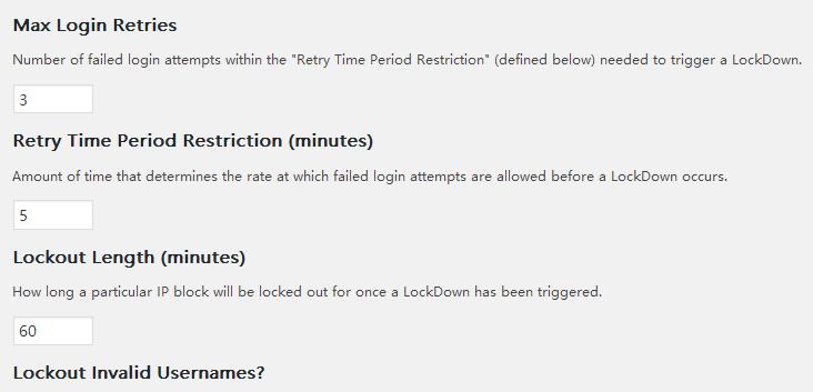 wrodpress两款安全插件Login Lockdown和WordFence