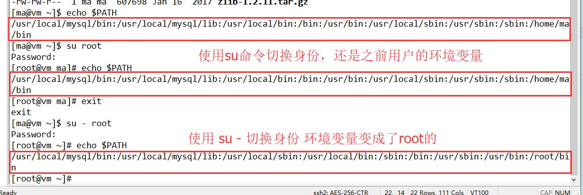 Linux下su和su-的区别