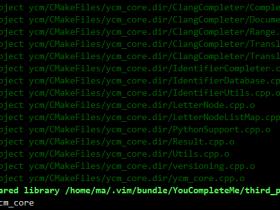 vim安装YouCompleteMe自动补全插件