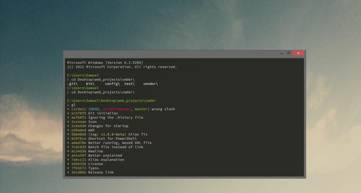 windows下的命令行增强工具cmder的安装和使用