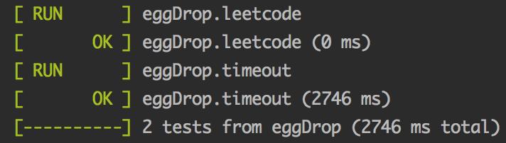 [leetcode]887-鸡蛋掉落